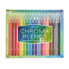 Load image into Gallery viewer, Ooly - Chroma Blends Watercolor Brush Markers - Set of 18