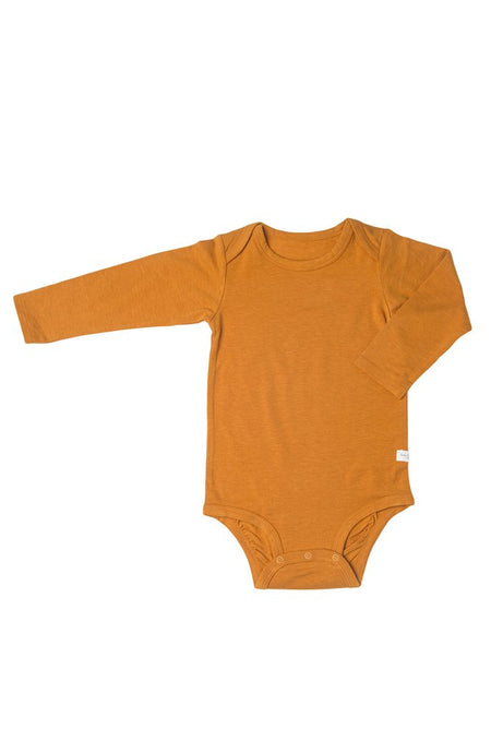 Loulou Lollipop - Long Sleeve Bodysuit in TENCEL - Ginger Honey