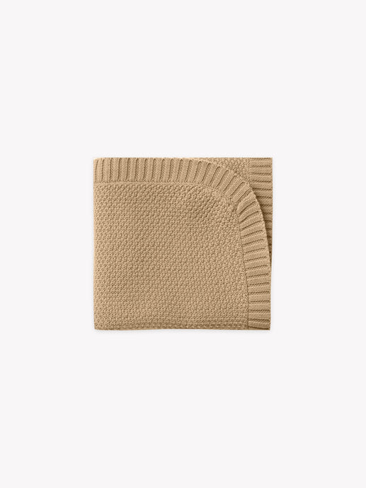 Quincy Mae - Organic Chunky Knit Baby Blanket - Honey