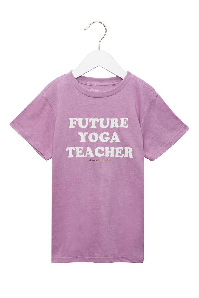 Spiritual Gangster - Future Yoga Teacher Kids Tee - Pink Orchid