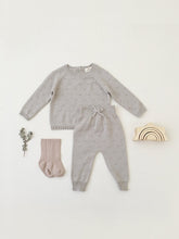 Load image into Gallery viewer, Quincy Mae - Organic Bailey Knit Sweater - Fog