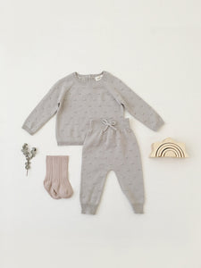 Quincy Mae - Organic Bailey Knit Sweater - Fog
