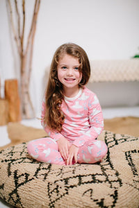 Sweet Bamboo - Bamboo Big Kid Pj's Long Sleeve Top & Bottom - Ballet