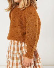 Load image into Gallery viewer, Rylee + Cru - Balloon Sweater Girls  - Cinnamon