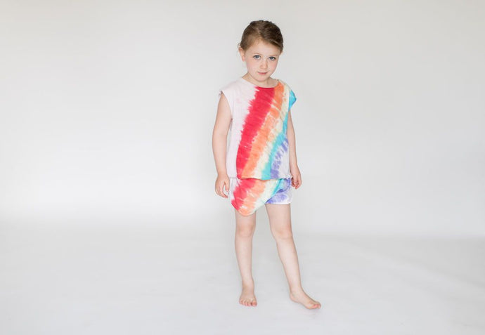 Little Moon Society - Bamboo Barret Boxy Tank - Rainbow