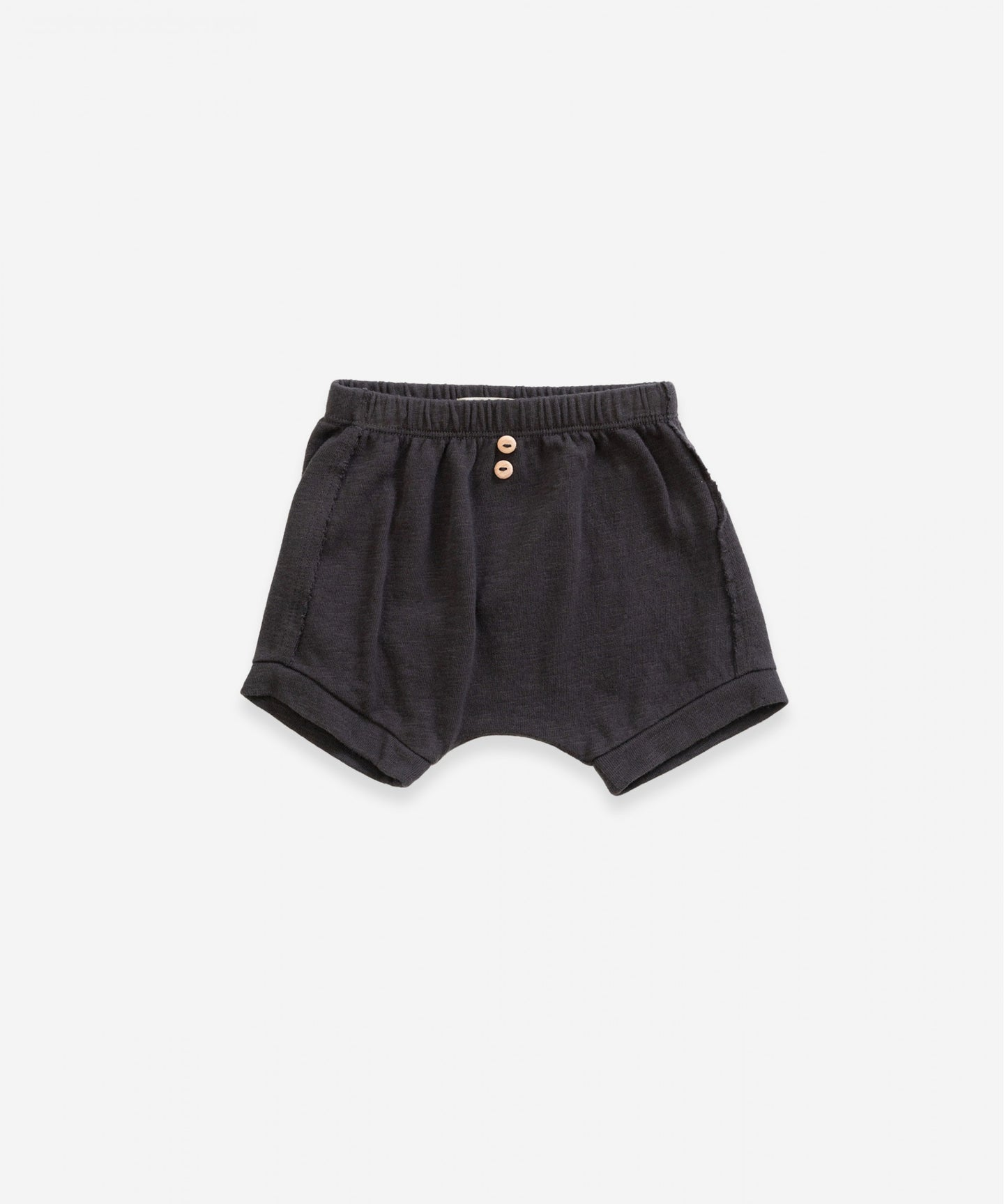 Play Up - Organic Cotton Shorts With Pocket - Basalt
