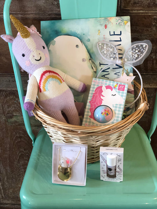 Easter Unicorn Basket Bundle For Girl 2-6 Years Option 5