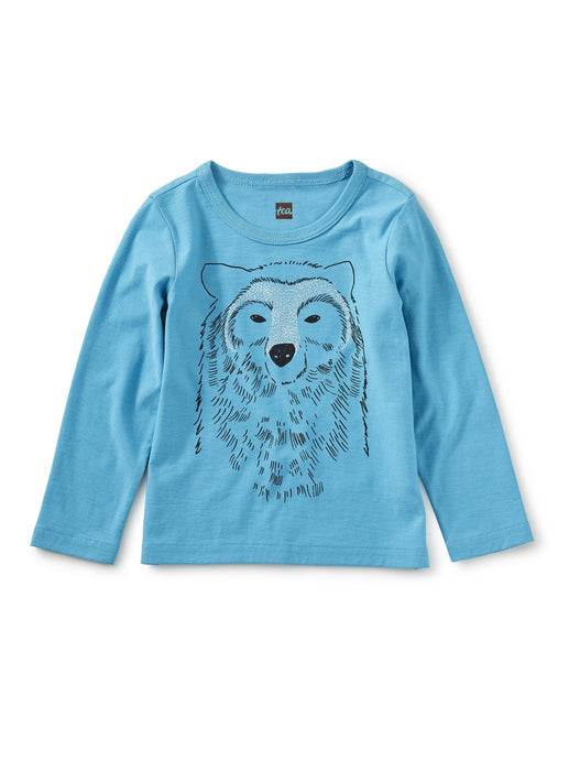 Tea Collection - Bear All Graphic Infant Tee - Bondi Blue