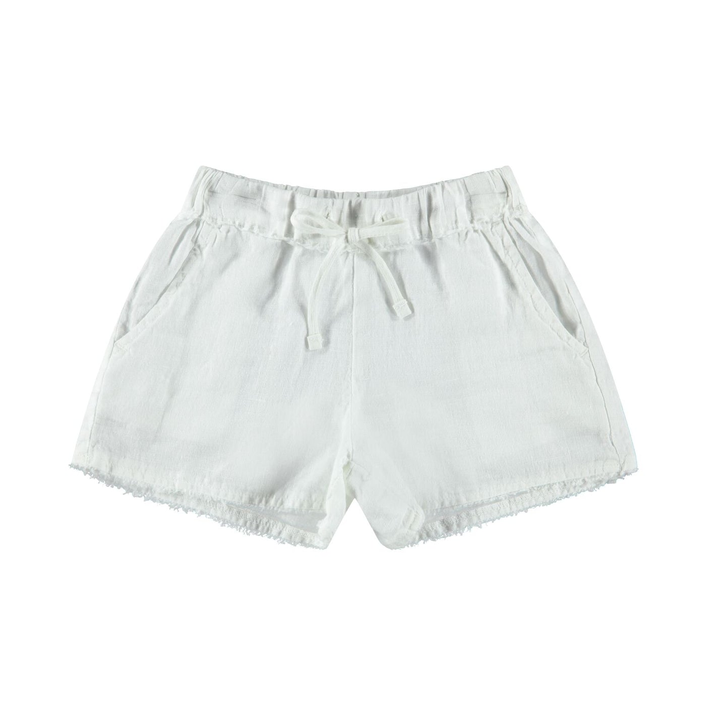 Bella Dahl - Frayed Waist Beach Short - White