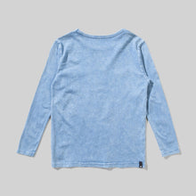Load image into Gallery viewer, MunsterKids Bolter MIneral Blue L/S Tee