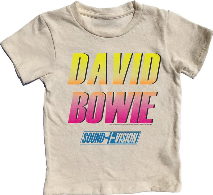 Rowdy Sprout - David Bowie Short Sleeve Tee - Cream Soda