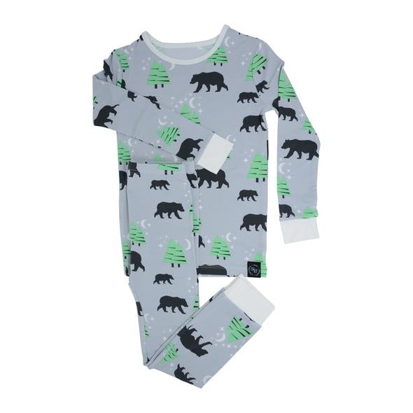 Sweet Bamboo - Big Kid Bamboo Pj Set - Brave Bear