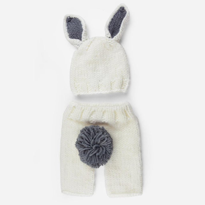 The Blueberry Hill - Bunny White/Gray Newborn Set