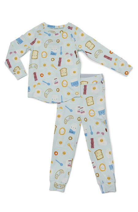 Loulou Lollipop - 2-pc Pajamas in TENCEL - Breakfast Blue