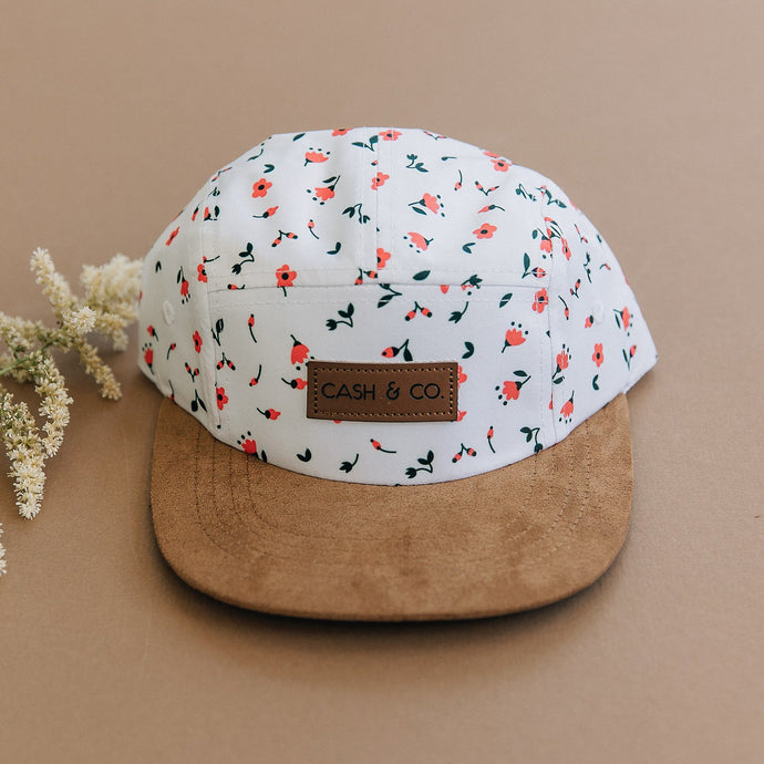 Cash & Co. - Haven - White/Floral Print Hat