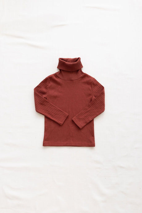 Fin & Vince - Organic Primary Turtleneck - Gingerbread