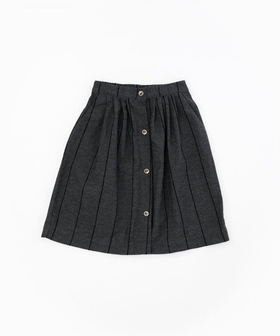 Play Up - Recycled Pleated Button Detail Skirt - Ruler