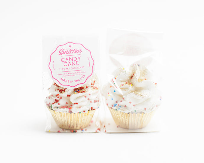 Feeling Smitten - Mini Candy Cane Cupcake Bath Bomb
