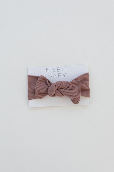 Mebie Baby - Dusty Rose Organic Cotton Ribbed Head Wrap