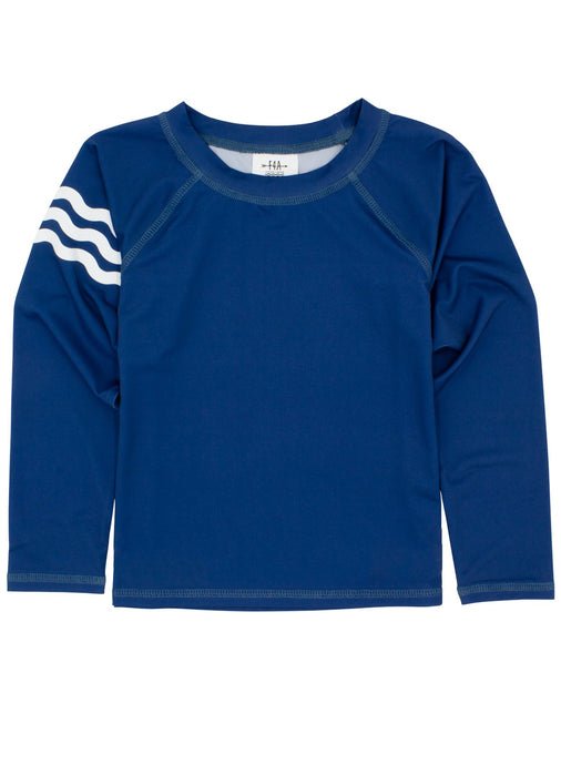 Baby Boy Wavy Daze Rash Top - Navy