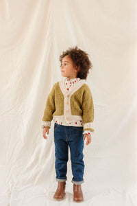 Fin & Vince - Chunky Cardigan - Chartreuse