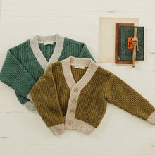 Load image into Gallery viewer, Fin & Vince - Chunky Cardigan - Chartreuse
