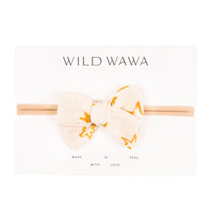 Wild Wawa - Bow Headband - Cloud