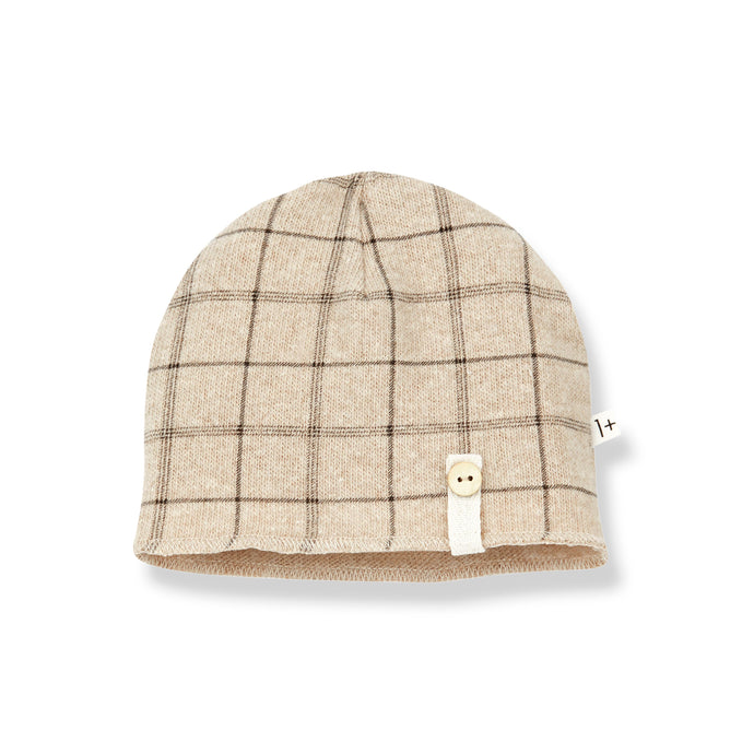 1 + in the family - Honore Plaid Beanie - Cream