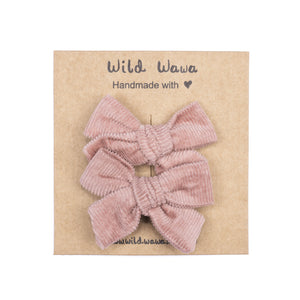 Wild Wawa - Bow Clip Set - Canyon Rose