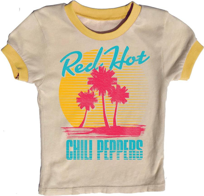 Rowdy Sprout - Red Hot Chili Peppers Girls Ringer Tee