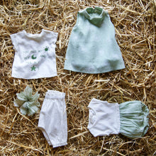Load image into Gallery viewer, Opililai - Dandelion Shimmer Sleeveless Bubble Romper - Green/Ivory