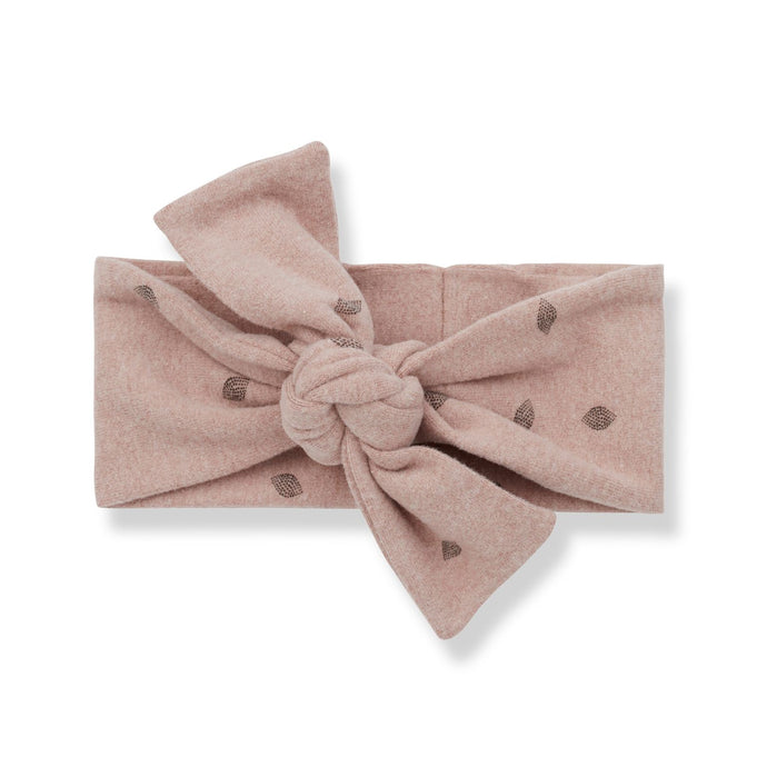 1 + in the family - Gento Printed Leaf Bandeau Headband - Rose