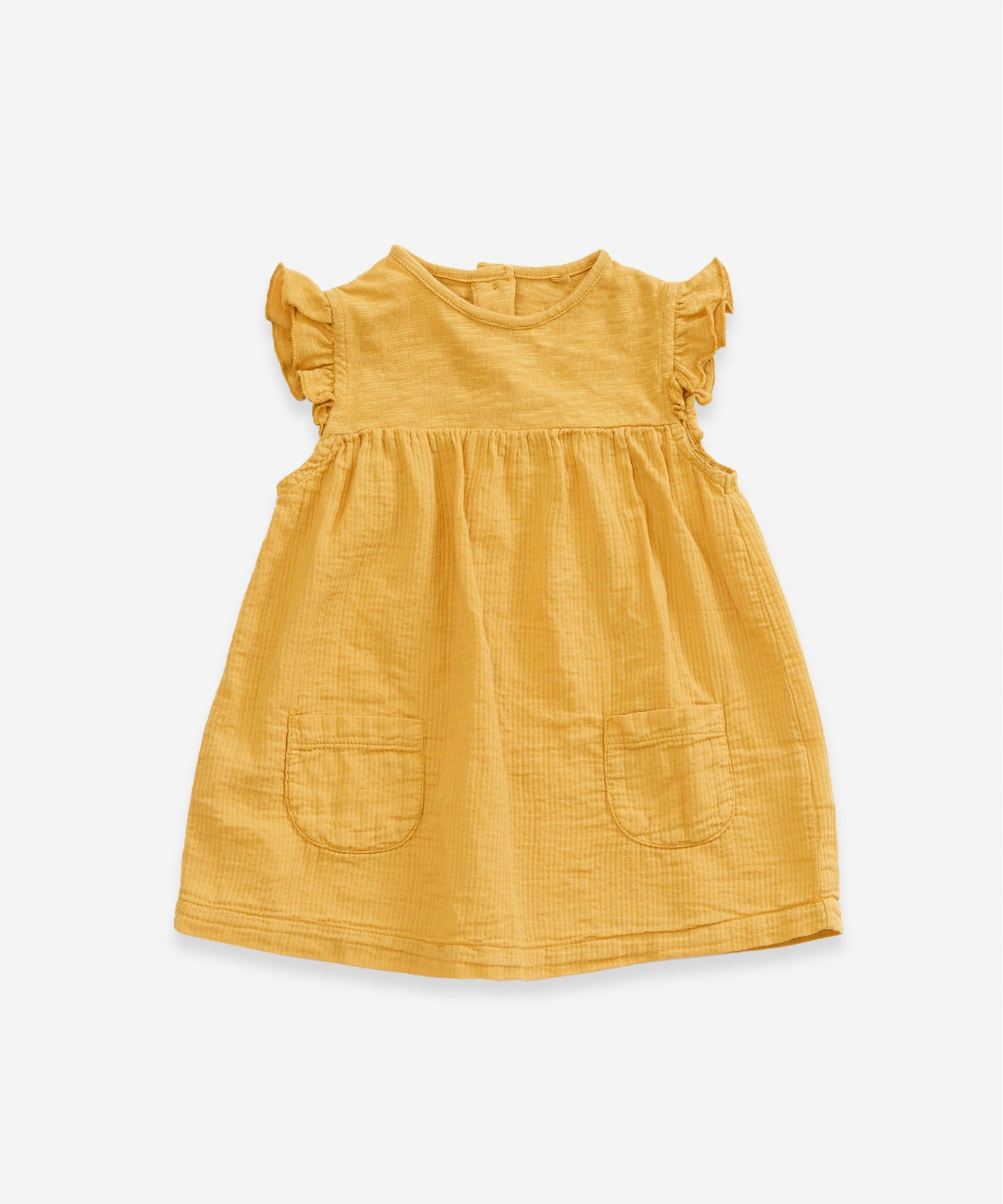 Organic Cotton Dress w/ Pockets - Mustard