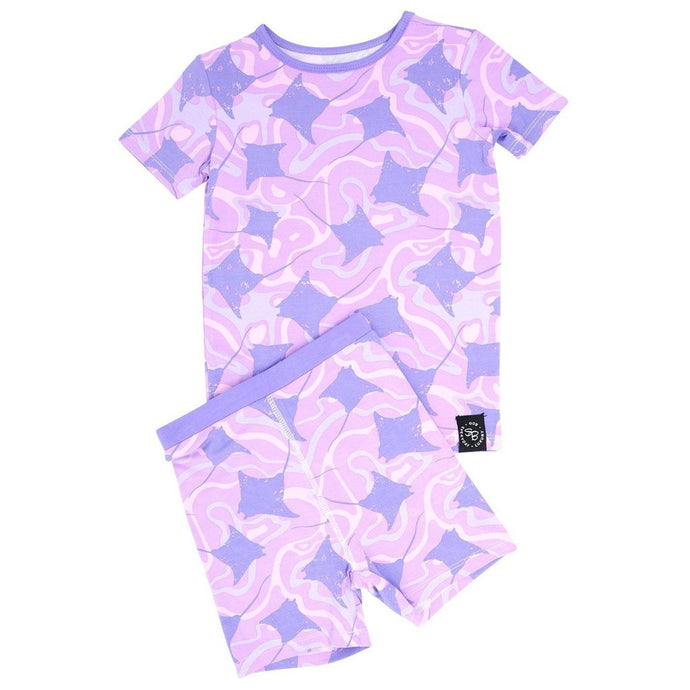 Sweet Bamboo - Summer Pj's Set - Purple Stingray