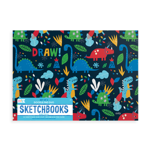 Ooly - Doodle Pad Duo Sketchbooks: Dino Days Set of 2