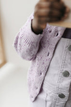 Load image into Gallery viewer, Dotty Cardi - Lilac Fleck