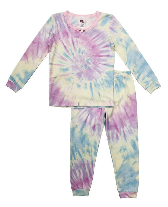Esme - Shimmer Tie Dye Full Length Pajama Set