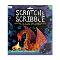 Ooly - Scratch & Scribble Art Kit - Fantastic Dragons