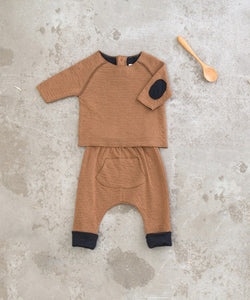 Play Up - Organic Cotton Top W/ Elbow Pads - Cherry Tree