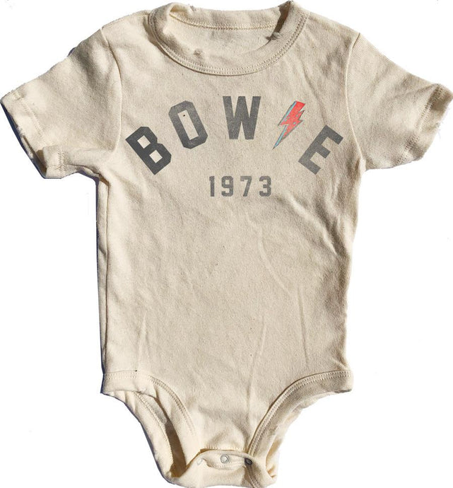 Rowdy Sprout - Bowie Simple Onesie - Cream Soda