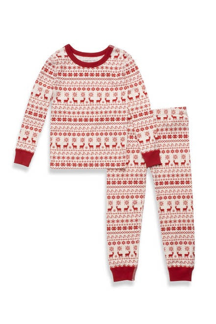 Pajamas For Peace - Nordic Kids Neutral 2 Piece Pajama Set - Red