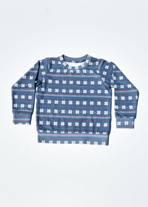 Sol Angeles - Fair Isle Hacci Pullover Infant - Snowflake