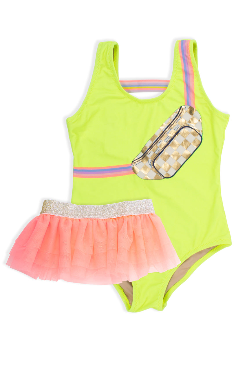 Shade Critters - One Piece Suit w/ Tutu - Citron Fanny Pack