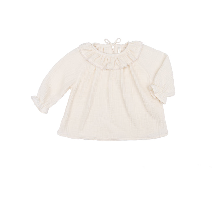 Ruffle Top - Cloud Solid