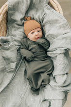 Load image into Gallery viewer, Mebie Baby - Fern Organic Cotton Ribbed Knot Gown