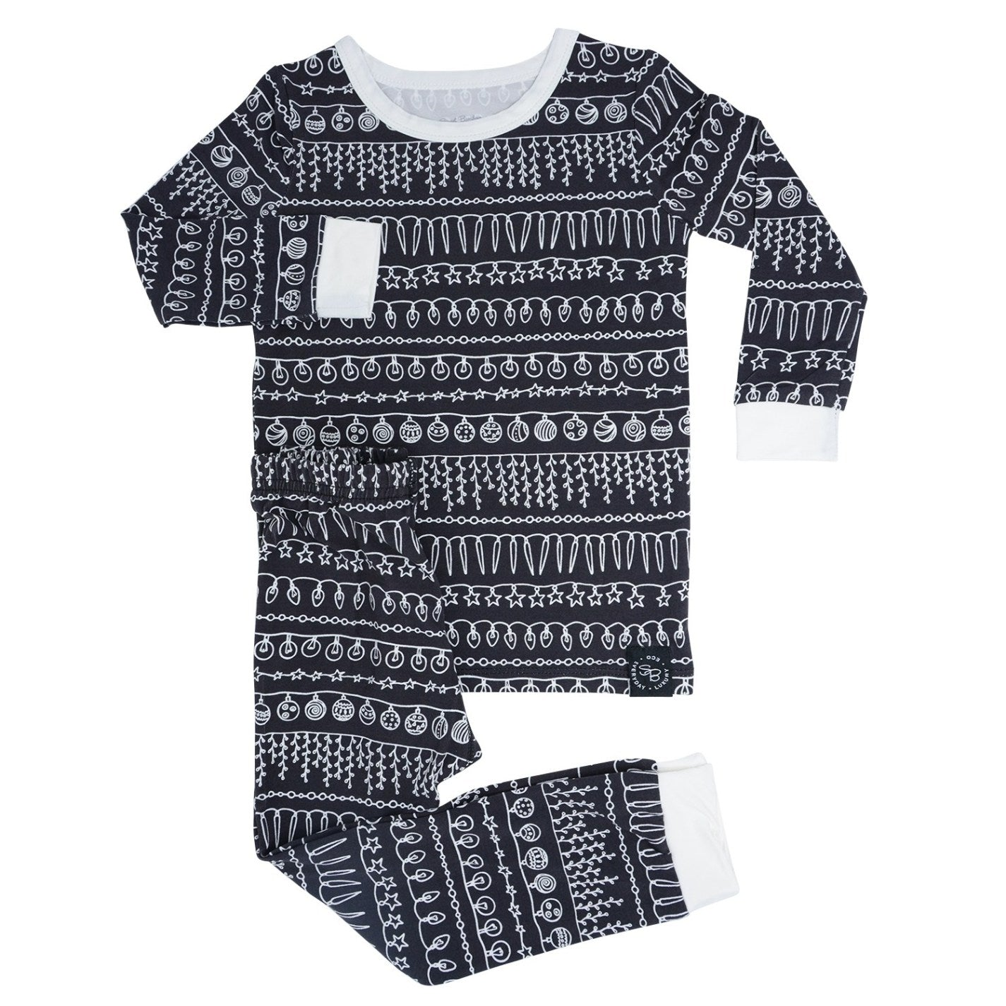 Sweet Bamboo Big Kid Pj's Set - Festive Lights