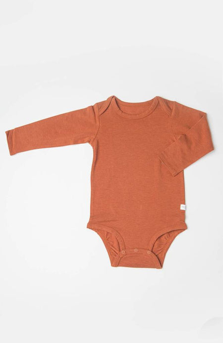 Loulou Lollipop - Long Sleeve Bodysuit in TENCEL - Umbra