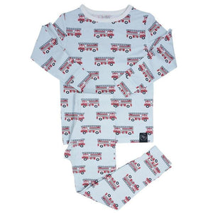 Sweet Bamboo - Bamboo Pj Set Long Sleeve - Firetrucks
