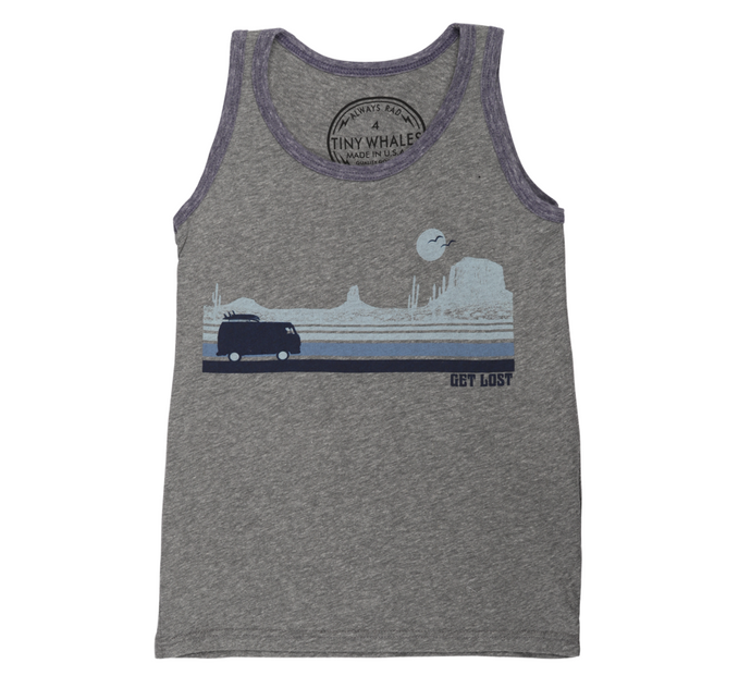 Tiny Whales - Get Lost Tank - Tri Grey