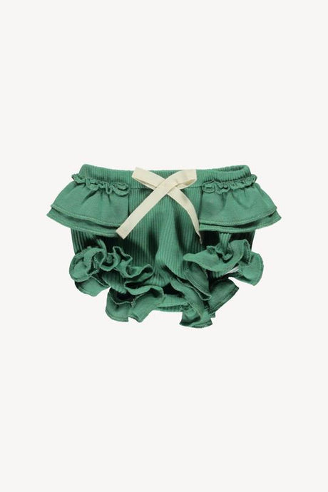 Fin & Vince - Organic Ruffle Bloomer - Schoolhouse Green